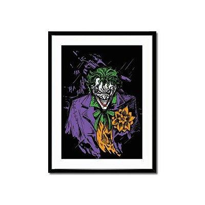 Poster Joker Com Moldura e Vidro 31X39,5