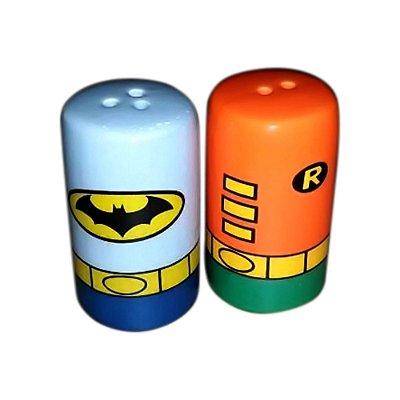 Saleiro e Pimenteiro Batman e Robin (Cerâmica)