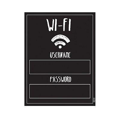 Adesivo Lousa Wi-Fi com giz