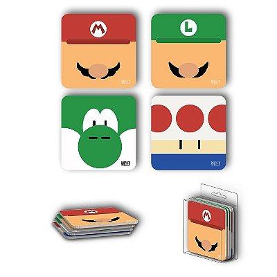 Porta Copos Magnéticos Mario