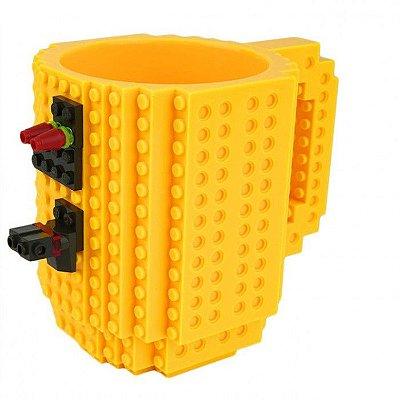 Caneca Blocos de Montar Lego Amarela