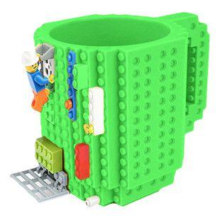 Caneca Blocos de Montar Lego Verde