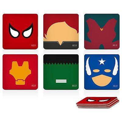 Porta-Copos Magnético Vingadores - Avengers (6 peças)
