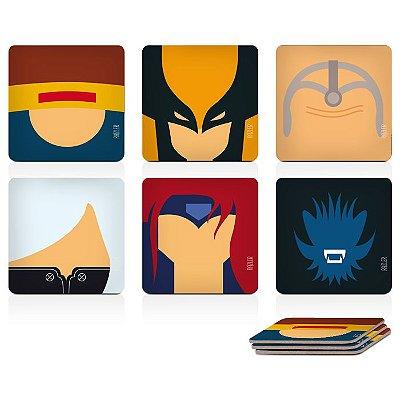 Porta-Copos Magnético X-Men (6 peças)