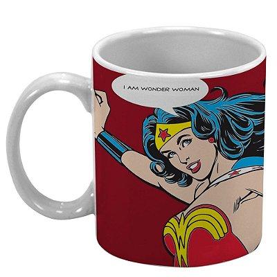 Caneca Mulher Maravilha em Porcelana DC Comics