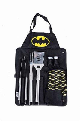 Conjunto para Churrasco Batman Com 7 Peças Licenciado