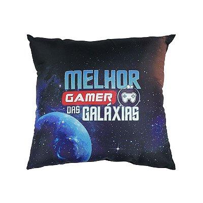 Almofada Porta Controle Melhor Gamer das Galáxias