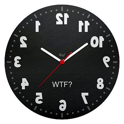 Relógio de Parede Ecológico Geek Anti horário