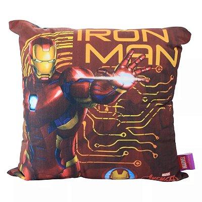 Almofada Iron Man - Homem de Ferro - 40x40 - Veludo
