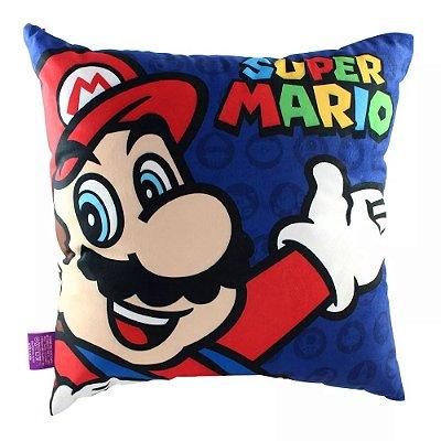 Almofada Super Mario e Luigi - 40x40cm - Veludo