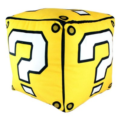 Almofada Cubo Super Mário - 25x25cm - Veludo