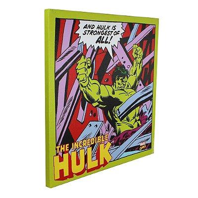 Quadro Canvas Hulk Comics - 40x40cm