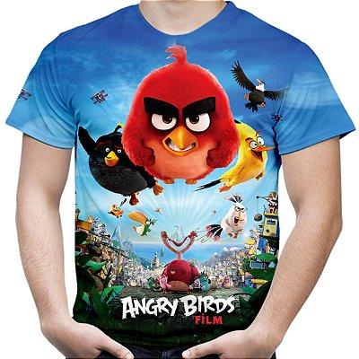 Camiseta Masculina Filme Angry Birds Estampa Total