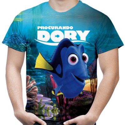 Camiseta Masculina Procurando Dory  Estampa Total MD01