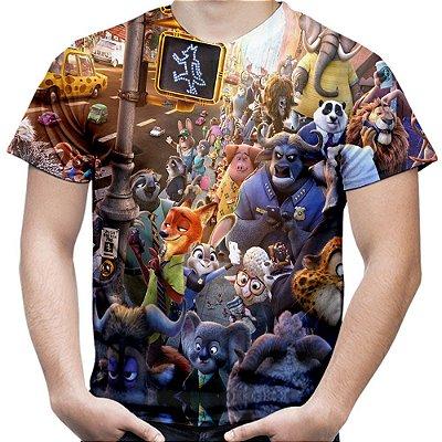 Camiseta Masculina Zootopia Estampa Total