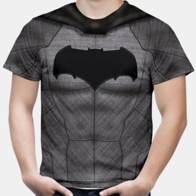 Camiseta Masculina Batman Armadura Estampa Total