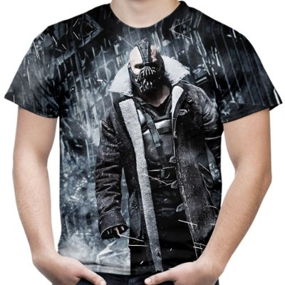 Camiseta Masculina Bane Batman Estampa Total