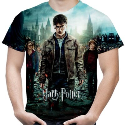 Camiseta Masculina Harry Potter Estampa Total Md03