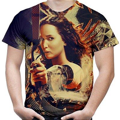 Camiseta Masculina Jogos Vorazes Estampa Total MD01