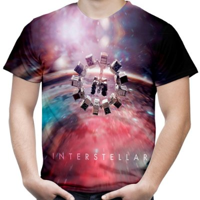 Camiseta Masculina Interestelar Estampa Total Md02