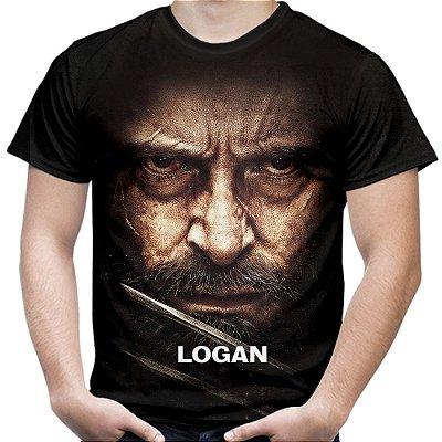 Camiseta Masculina Logan Wolverine Estampa Total