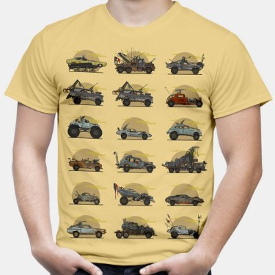 Camiseta Masculina Mad Max Carros Estampa Total