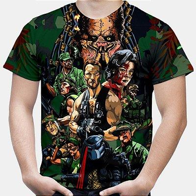 Camiseta Masculina Predador Estampa Total