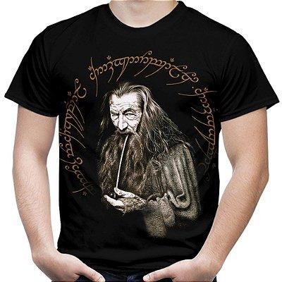 Camiseta Masculina Gandalf Senhor dos Anéis Estampa Total Md01