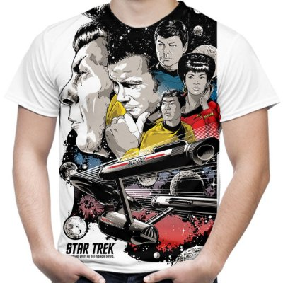 Camiseta Masculina Star Trek Estampa Total Md02