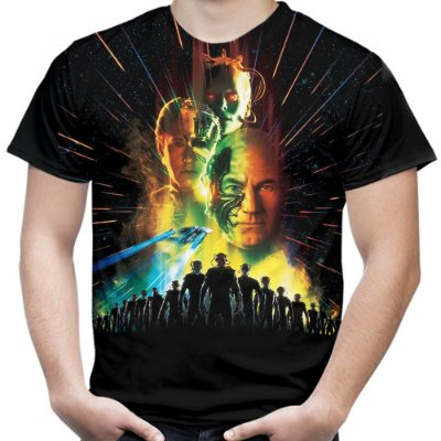 Camiseta Masculina Star Trek Estampa Total Md05