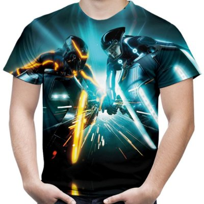 Camiseta Masculina Tron Estampa Total Md02