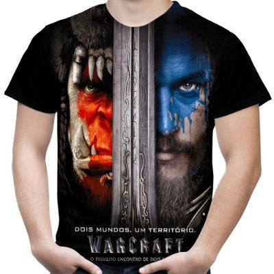 Camiseta Masculina Warcraft Estampa Total Md01