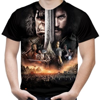 Camiseta Masculina Warcraft Estampa Total Md02