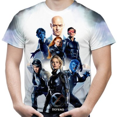 Camiseta Masculina X Men Estampa Total Md02
