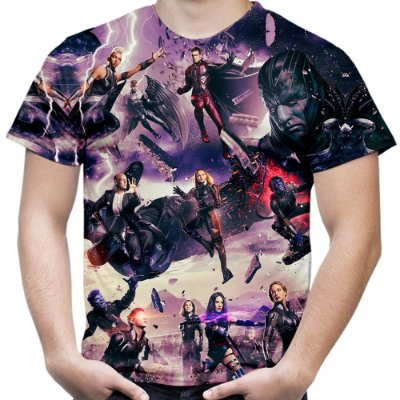 Camiseta Masculina X Men Estampa Total Md03