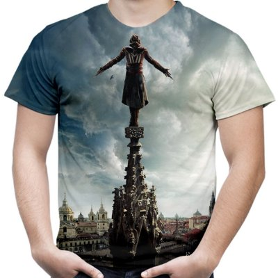 Camiseta Masculina Assassin's Creed Filme Estampa Total Md02