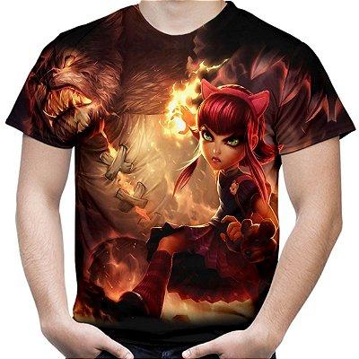 Camiseta Masculina Annie League of Legends Estampa Total