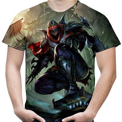 Camiseta Masculina Zed League of Legends Estampa Total Md01