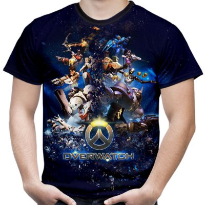 Camiseta Masculina Overwatch Estampa Total Md01
