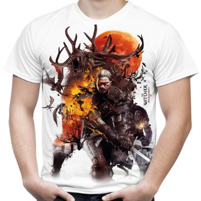 Camiseta Masculina The Witcher 3 Estampa Total
