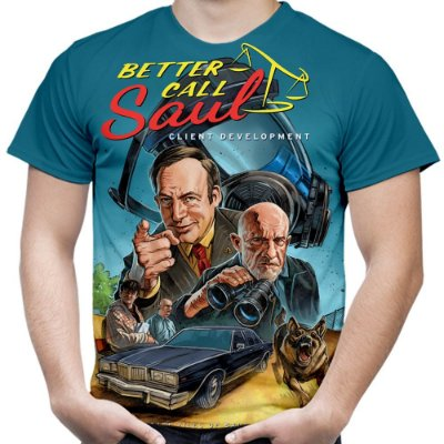 Camiseta Masculina Better Call Saul Estampa Total Md03