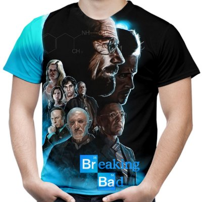 Camiseta Masculina Breaking Bad Estampa Total Md04