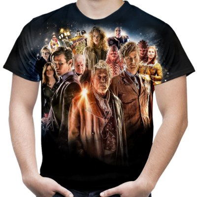 Camiseta Masculina Doctor Who Estampa Total Md01