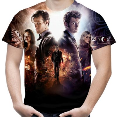 Camiseta Masculina Doctor Who Estampa Total Md02