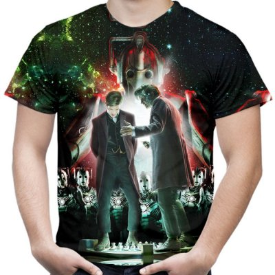 Camiseta Masculina Doctor Who Estampa Total Md04