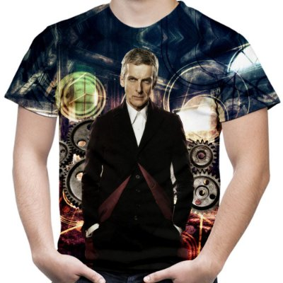 Camiseta Masculina Doctor Who Estampa Total Md08