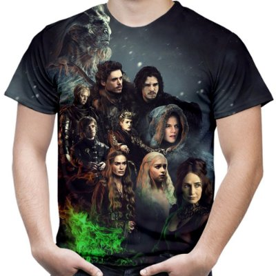 Camiseta Masculina Game Of Thrones Estampa Total Md02