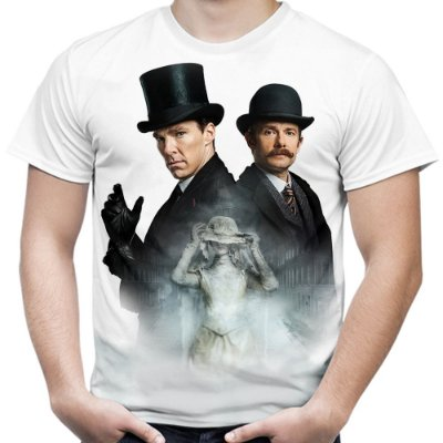 Camiseta Masculina Sherlock Estampa Total Md02