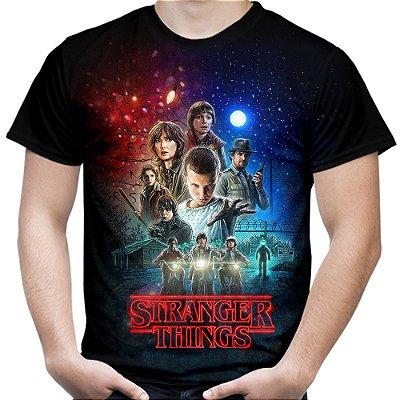 Camiseta Masculina Stranger Things Estampa Total