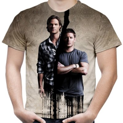 Camiseta Masculina Supernatural Estampa Total Md01